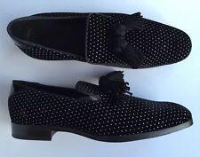 JIMMY CHOO Foxley black velvet loafers UK 10 EU 44 RRP £525