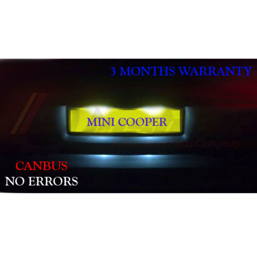 Number Plate LED Light Bulbs Xenon White *Mini Cooper R50 R52 R53 License