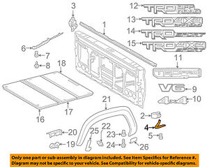 s l300 toyota oem 16 18 tacoma pick up box bed front molding right