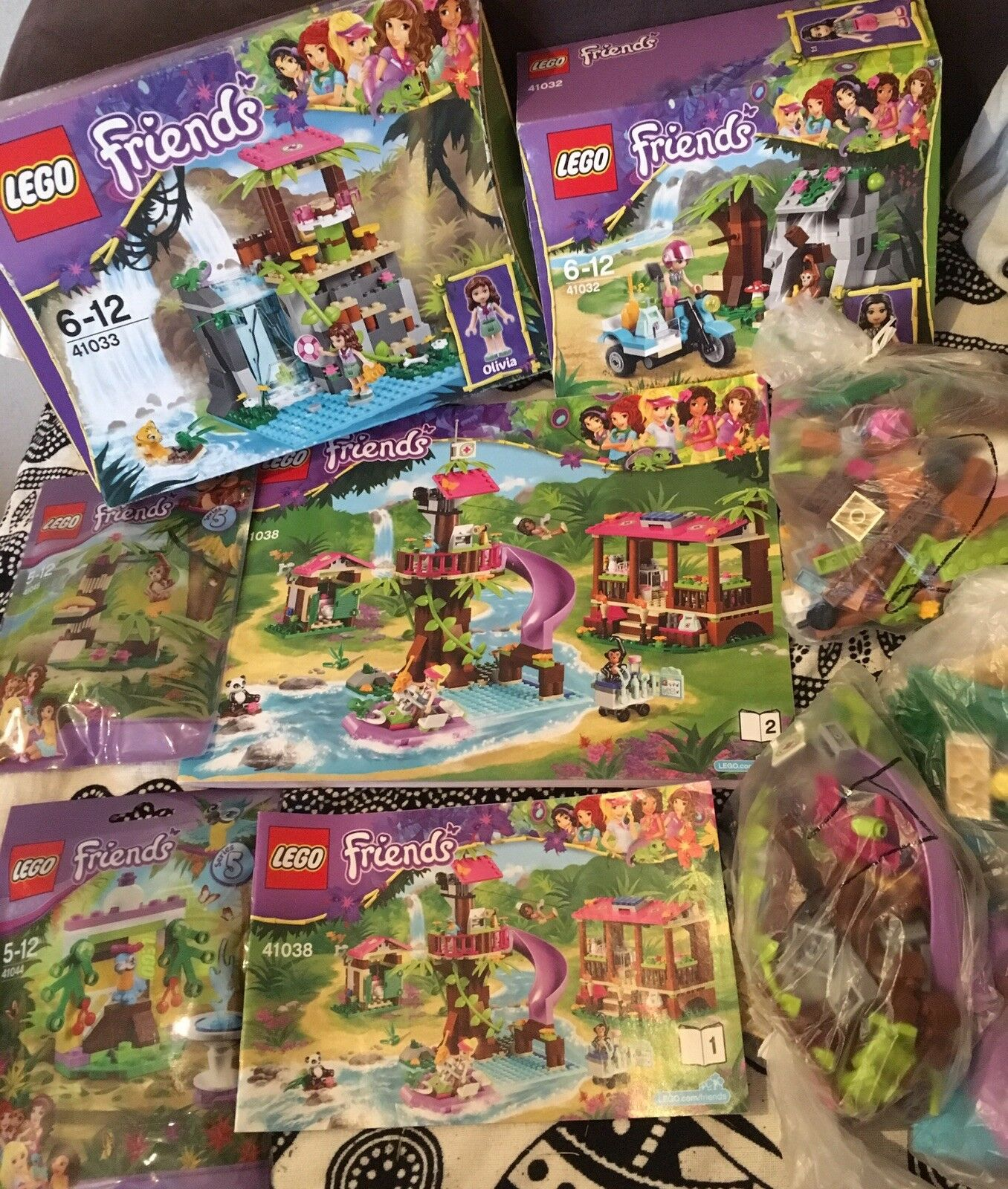 5 Sets Lego Friends Dschungel 41032 41033 41038 41044 41045