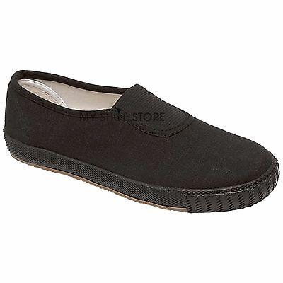 Childrens Niños Niñas Unisex Escuela PE Bombas Zapatos De Gimnasia Deportes Entrenadores Zapatillas De Tenis