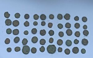 LOT OF 50 ANCIENT ROMAN IMPERIAL BRONZE COINS III-V Century AD