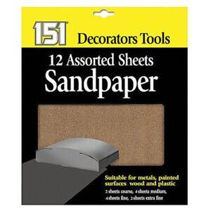151-Sandpaer-12-Assorted-Sheets-Coarse-Medium-Fine-Extra-Fine-Dry
