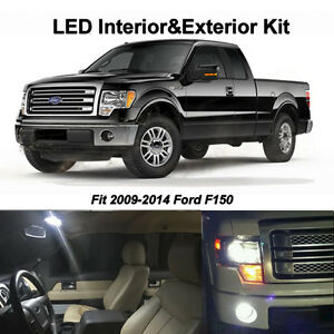 15 X White Led Interior Bulbs Fog Reverse Tag Lights For 2009 2014 Ford F150 Ebay