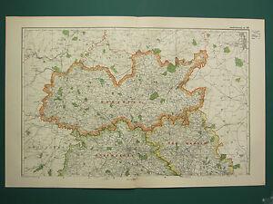 1920 COUNTY MAP of SHROPSHIRE NORTH SHEET ~ SHREWSBURY OWESTRY ...