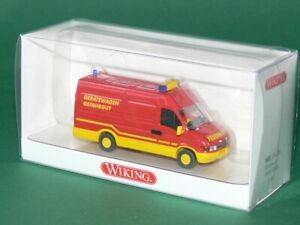 Wiking-Feuerwehr-Iveco-Daily-Geraetewagen-Gefahrgut-Nr-60109-Neu-amp-Ovp