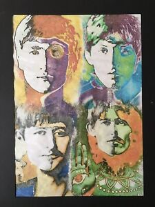 The-Beatles-One-Off-Artwork-A3-Framed-Ready-To-Hang-Avedon-amp-Freeman-Inspired