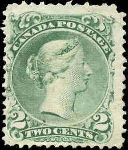 1868-Mint-NG-Canada-F-Scott-24-2c-Large-Queen-Issue-Stamp