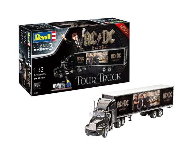 Revell 07453 - 1/32 Truck & Trailer - AC / Dc Tour Truck - Geschenkset - Neuf