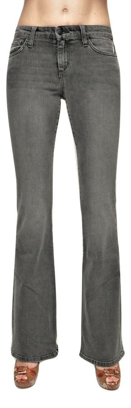 Joe's Jeans Mid Rise Skinny Flare Jeans Stretch Denim Pants Electra (Grey) Nwt