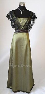 Green Edwardian Dress Titanic 1912 Lace Bridesmaids Dress Made To Order 4-30uk Attraktive Designs;