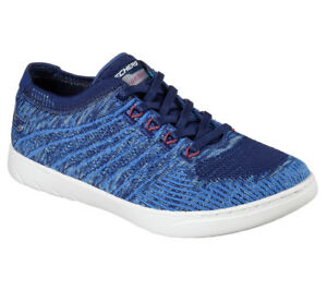 NEU SKECHERS Damen Sneakers Schnürschuhe Turnschuhe MILLENNIAL - VISIONARY Blau