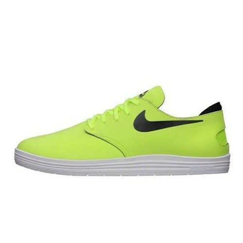 Nike LUNAR ONESHOT Volt Noir Jaune Skate Discounted Skate Hommes  Chaussures