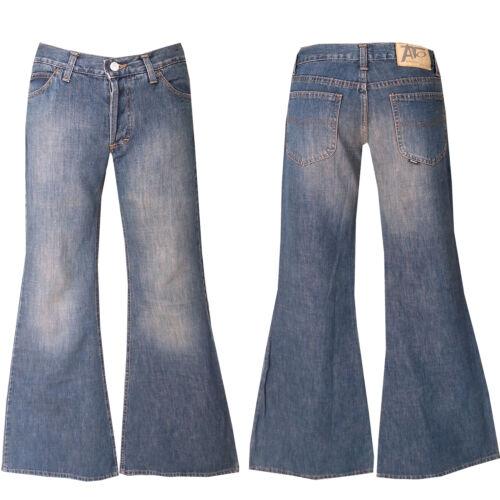 """70er Retro   /""""mega/"""" Schlagjeans W28-Gr.34 /""""Großer Schlag/"""" Blue Jeans  L36"""