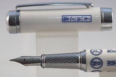 Dragon Design Jinhao Blue /& White Porcelain Fine Fountain Pen
