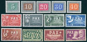 SCHWEIZ-1945-MiNr-447-459-447-59-PAX-tadellos-postfrisch-Mi-450