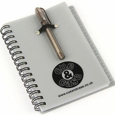 Cue & Case Pocket Notepad & Mini Pen - Includes Post-it Notes