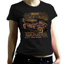 Frauen T Shirt schwarz US Car Rockabilly Hot Rod/&`50 Stylemotiv Lucky 7 Rules