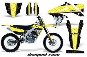 Moto de Cross Pegatina Gráficos De Kit + # Placas Envuelva Para Suzuki RMZ450
