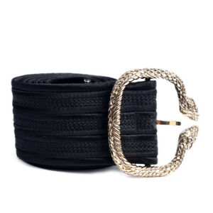 ROBERTO-CAVALLI-Belt-Black-With-Snake-Buckle-Size-Small-WR-182