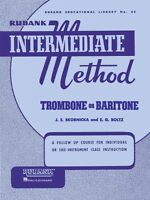 Rubank Intermediate Method Trombone Or Baritone Intermediate Band Meth 004470190