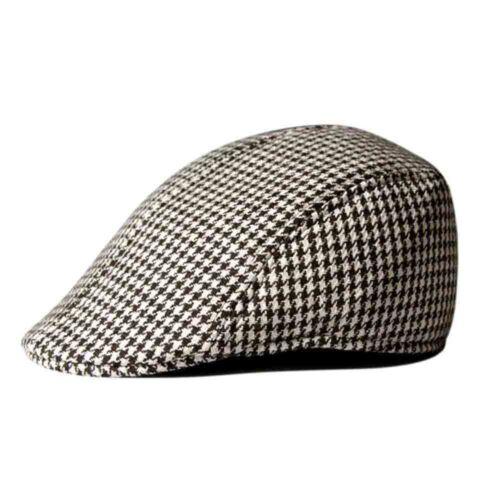 Children Boys Girls Flat Cap Tweed Check Herringbone Peaky One Size Hat Fashion