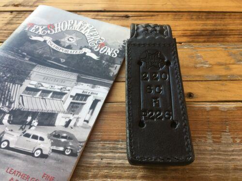 NICE Tex Shoemaker Black Leather Single Magazine Holder Steel Double Stack
