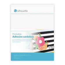 Printable Adhesive Cardstock 8.5inX11in 8/Pkg-White NEW