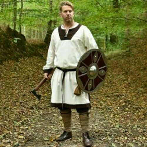 Medieval Reenactment Tunic Mast Design Historical Costume Nice Look White Col