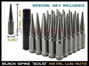 """2007-2020 Toyota Tundra TRD PRO OFFROAD 4.5/"""" Tall Spike Lug Nuts Set Gun Metal"""