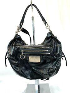 COACH-Poppy-Patent-Leather-Hobo-Shoulder-Bag-Black-15790-Long-Short-Strap