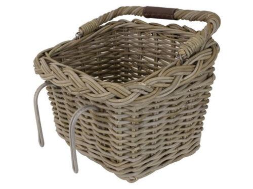 FastRider ratán cesta rectangular con henkel cesta de mimbre para bicicleta de cestas canastas de compra