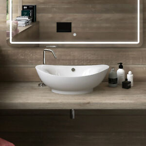 Lavabo bacinella 60 x 38 cm bianco in ceramica lavandino for Lavandino design