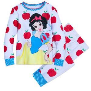 Disney Store Snow White Pajama Set Girls PJ/'s 5 6,7,8,10 New