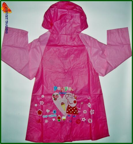 Brand new Peppa Pig Raincoat girls kids cartoon rain coat waterproof