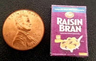 Dollhouse Miniature Replica Box of Raisin Bran ~ G067
