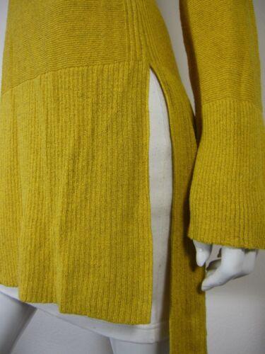 Maglia V a V M senape scollo taglia maniche lunga a manica lunghe medio a con Giallo rIx80Rrfqw