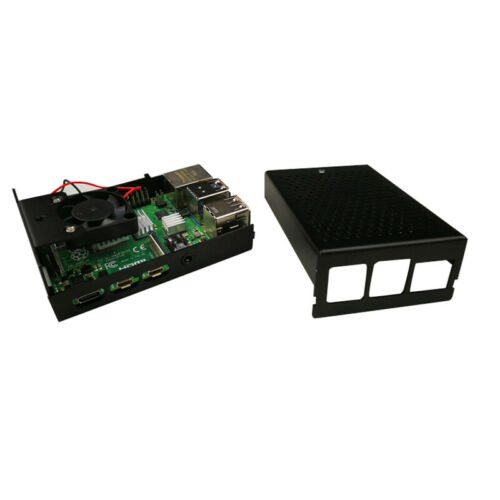 Aluminum Metal Case Cover Replacement For Raspberry Pi 4 Model B w//Cooling Fan