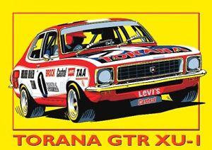 Holden-Torana-GTR-XU-1-Peter-Brock-Bathurst-Bumper-Sticker-or-Fridge-Magnet