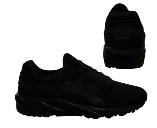 new concept e5b8a 42af3 Asics Gel-Kayano Evo Mens Trainers Lace Up Running Shoes Black HN6A0 9090  B35B