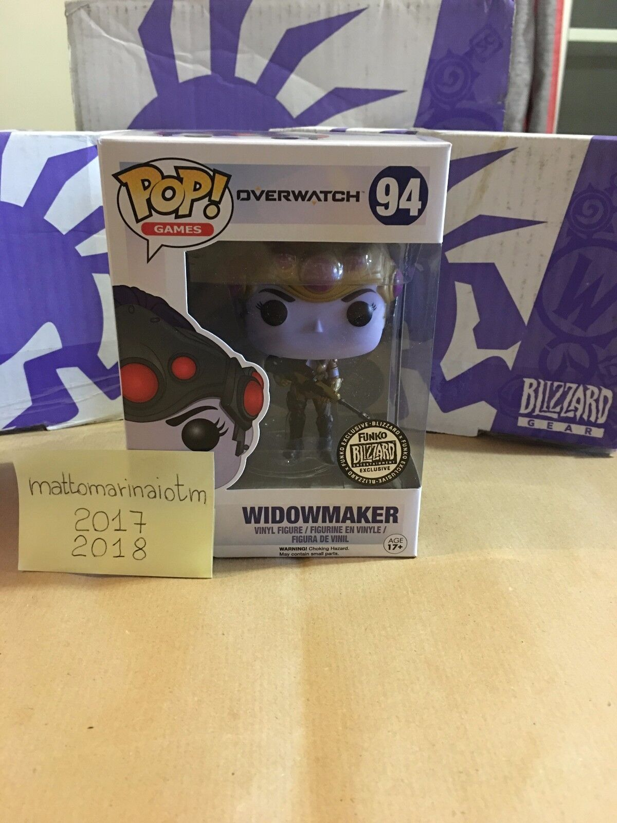 ORIGINAL Funko Pop  Vinyl Widowmaker  94 (BLIZZARD EXCLUSIVE)