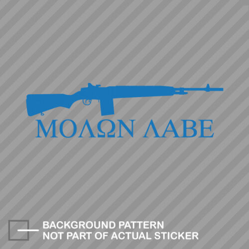 Molon Labe Come Take Them M1A Carbine Rifle Sticker Die Cut Decal 2A amendment