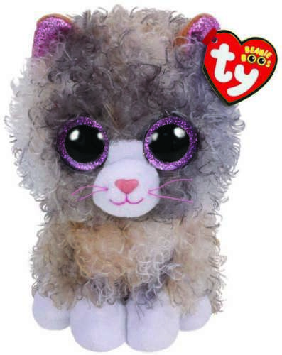 TY BEANIE BABIES BOOS SCRAPPY CURLY HAIR CAT PLUSH SOFT TOY NEW WITH TAGS