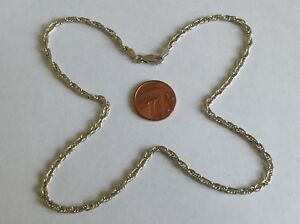SOLID-STERLING-SILVER-TRIPLE-LINK-NECKLACE-CHAIN
