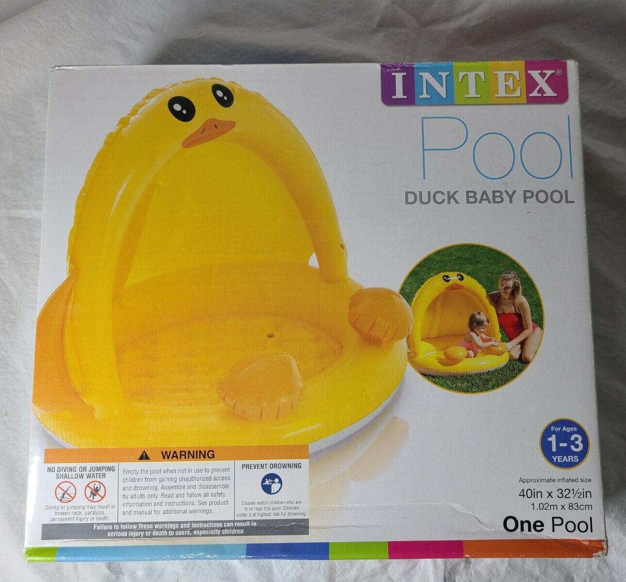 Intex Pool Duck Baby Inflatable Baby Pool, 40