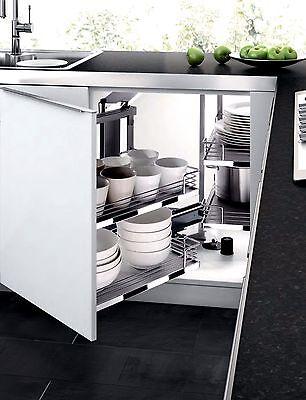 Kitchen Cabinet Blind Corner PULL OUT SHELVES Sliding Door ...