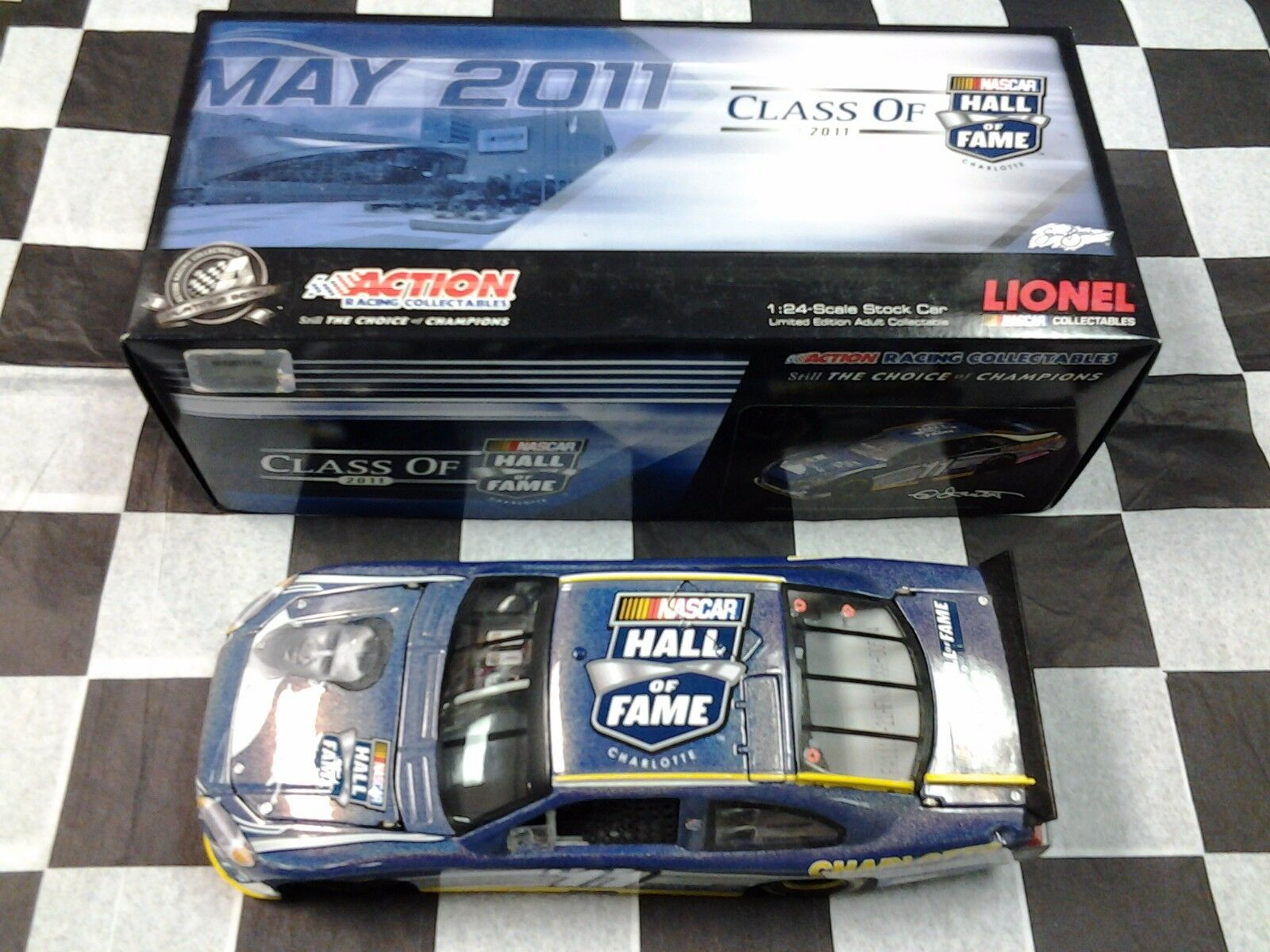 Ned Jarrett #11 NHOF Class of 2011 Action NIB Flashcoat Color Nascar Hall Fame