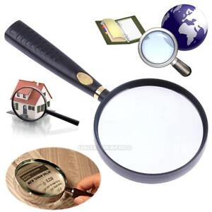 41fdc3bd06bb Details about 90mm Large Handheld Magnifying Glass 10X High Optical Real  Glass Magnifier Lens