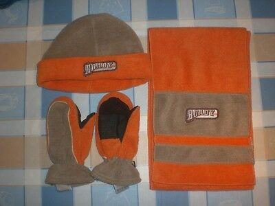 DemüTigen We Fashion Oranges Set Aus Mütze Mit Ku 54 Cm, Schal & Handschuhe Gr.m