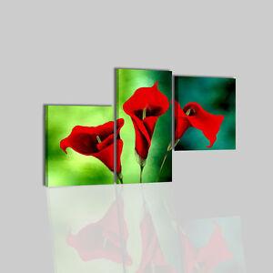 Quadri moderni con fiori dipinti a mano su tela verde for Quadri moderni fiori dipinti a mano
